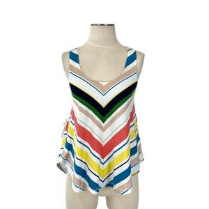 Anthropologie- Deletta Multi Chevron Swing Tank XS